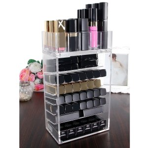 Langforth Acrylic Makeup Organizer Palette Lipstick Holder Case Storag