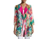 Berek Watercolor Crinkled Reversible Jacket, Petite