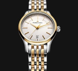 Lowest price! $299 MAURICE LACROIX Les Classiques Date Silver Dial Two-tone Ladies Quartz Watch