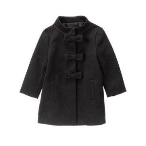 Toddler Girls Black Dressy Coat by Gymboree