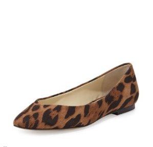 Bettye Muller Ponytail Fabric Ballerina Flat, Leopard @Neiman Marcus