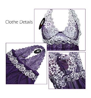 FantaCharm Women Outfits Halter Lingerie Mini Nightwear