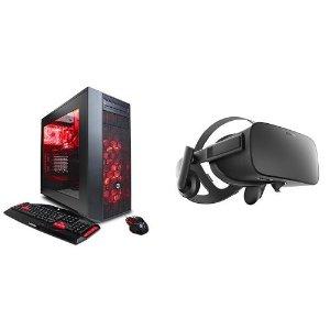 $999 Only Today!CYBERPOWERPC VR Ready Desktop(i5+RX480) + Oculus Rift