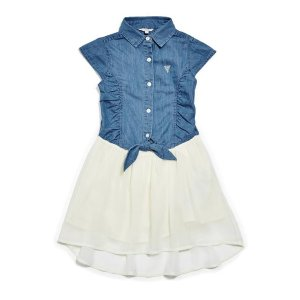 Two-Fer Dress (7-16)   GUESS.com