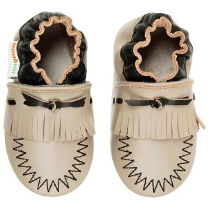 Momo Baby Soft Sole Leather Crib Bootie Shoes - Moccasin - Rakuten.com