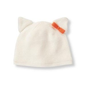 Layette Ivory Cat Ear Sweater Beanie at JanieandJack