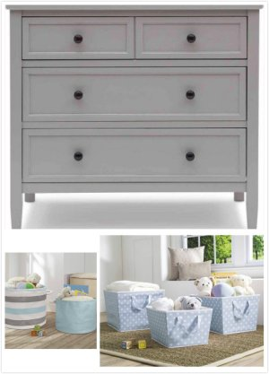 Delta Children Epic 3-Drawer Dresser with BONUS Storage Set