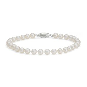Freshwater Cultured Pearl Bracelet in 14k White Gold (7.0-7.5mm) | Blue Nile
