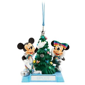 Mickey and Minnie Mouse Holiday Ornament