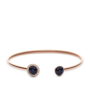 Shimmer Glass Stone Flex Bangle - Fossil