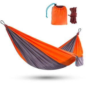 Touz Double (2-Person) Parachute Lightweight Portable Nylon Fabric Travel Camping Hiking Hammock