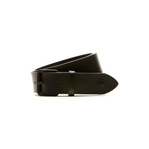 BELT IN MONOCHROME LEATHER WITH TONGUE BUCKLE