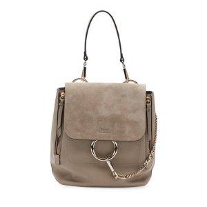 Chloe Faye Medium Suede & Leather Backpack