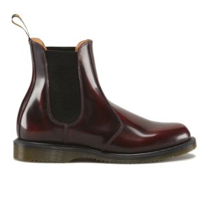 Dr. Martens Women's Kensington Flora Arcadia Leather Chelsea Boots - Cherry Red - FREE UK Delivery