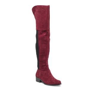 Over The Knee Stretch Suede Boots - Boots - T.J.Maxx