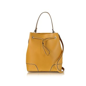 Furla Stacy Saffron Leather Bucket Bag at FORZIERI