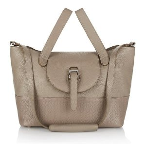 Luxury handbag - thela taupe woven | meli melo Handbags