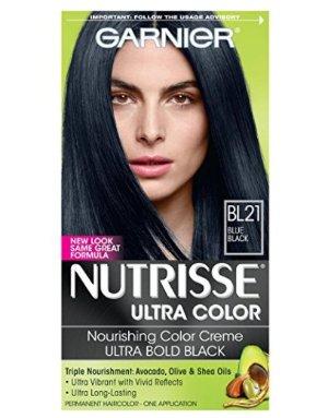 超赞白菜!$0.98Garnier Nutrisse 超级滋养染发膏-深黑色