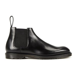 Dr. Martens Men's Henley Wilde Polished Smooth Leather Low Chelsea Boots - Black - Free UK Delivery over £50