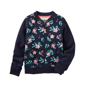 Floral French Terry Bomber Jacket | Carters.com