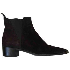 black Plain Suede ACNE STUDIOS Ankle boots