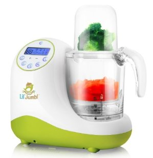 Versatile Baby Food Maker, Mill, Grinder, Blender, Steamer, Reheat, Bottle & Pacifier Warmer & Sterilizer. Digital Controls, LCD Display, Timer & Bowl Lock System. 2 Foods At Once