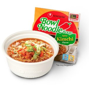 $6.21 Nongshim Bowl Spicy Kimchi Noodle Soup, 3.03 Ounce (Pack of 12)