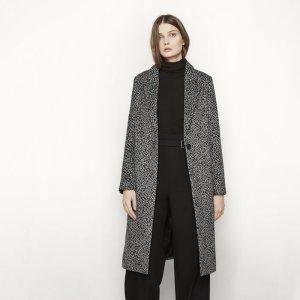 GAROU Long leopard print coat - Coats & Jackets - Maje.com