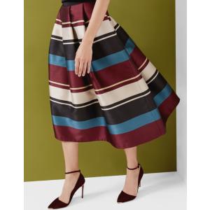 Antique Stripe full midi skirt - Black | Skirts & Shorts | Ted Baker