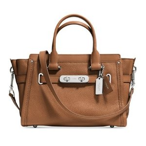 COACH Swagger 27 in Pebble Leather - Designer Handbags - Handbags & Accessories - Macy's