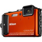 Nikon COOLPIX AW130 16MP Waterproof Digital Camera w/ Wi-Fi (Orange) Refurbished