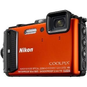 $269Nikon COOLPIX AW130 16MP Waterproof Digital Camera w/ Wi-Fi (Orange) Refurbished