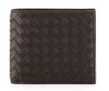 Bottega Veneta Basic Woven Wallet, Brown
