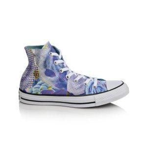 Women's Converse Chuck Taylor Digital Floral Print Hi Blue/Purple/Wht | Shoe Carnival