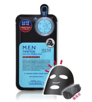 MEDIHEAL M.E.N Timetox Chacoal-Mineral Mask 1pc