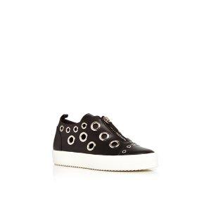 Giuseppe ZanottiMay London Calf Leather Sneakers with Grommets by   Moda Operandi