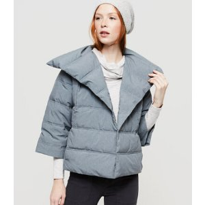 Lou & Grey Heathered Puffer Jacket