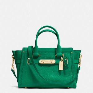 COACH: Swagger 27 In Pebble Leather