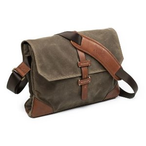 Canvas Leather Messenger Bag by Allen Edmonds