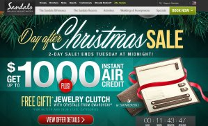 Up to $1000 Instant Air Credit+Free Gift@ Sandals