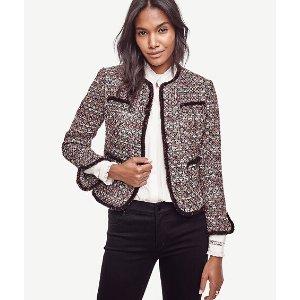 Sequin Tweed Jacket | Ann Taylor