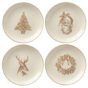 Golden Holidays 4-piece Dessert Plate Set by Lenox