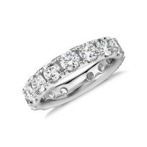 Riviera Pavé Diamond Eternity Ring in 18k White Gold