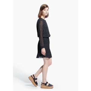 Printed pleated dress - Women | OUTLET USA