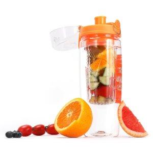 Gonex 32oz Fruit Infuser Water Bottle Flip Top BPA Free Tritan Water Bottle
