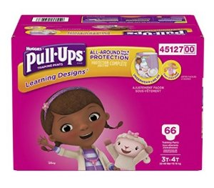 $13.69 Pull-Ups Learning Designs Training Pants for Girls, 3T-4T, 66 Count