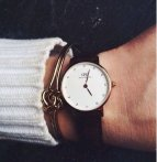 $64.09 Daniel Wellington Women's 0922DW Classy York Analog Display Quartz Black Watch