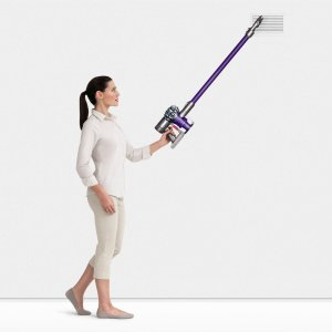 $200Dyson V6 Animal SV04 Cordless Stick Vacuum - Purple/Iron Manufacturer refurbished