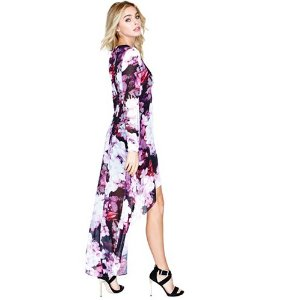 Floral Fusion High-Low Dress | GUESS by Marciano