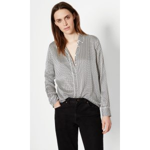 Women's KATE MOSS SHILOH SILK SHIRT WITH PIPING made of Silk | Women's Kate Moss by Equipment